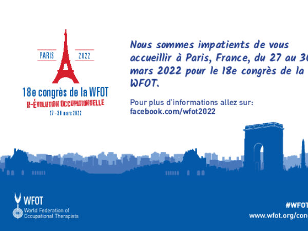 WFOT Congress 2022 Half Page Advert French