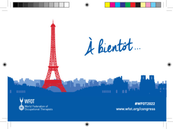WFOT Congress 2022 Save The Date A6 French